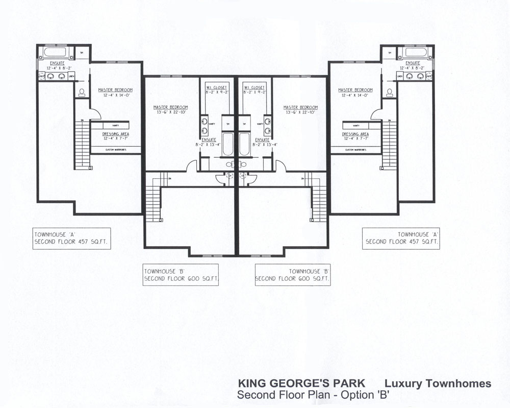 King george 39 s park luxury townhomes for Luxury townhome floor plans