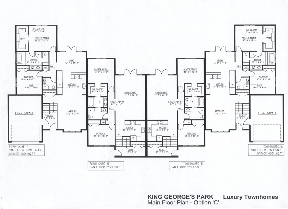 luxury townhome plans floor plans