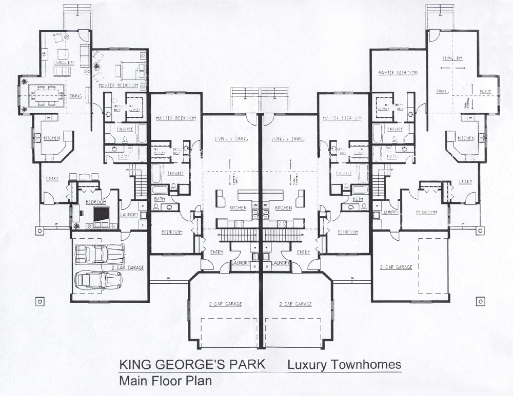 King george 39 s park luxury townhomes Luxury townhomes floor plans