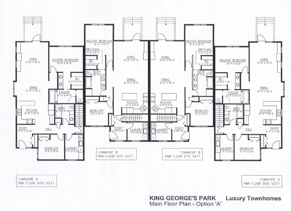 Luxury Townhomes Floor Plans